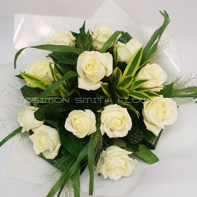 Click to view DOZEN WHITE ROSES