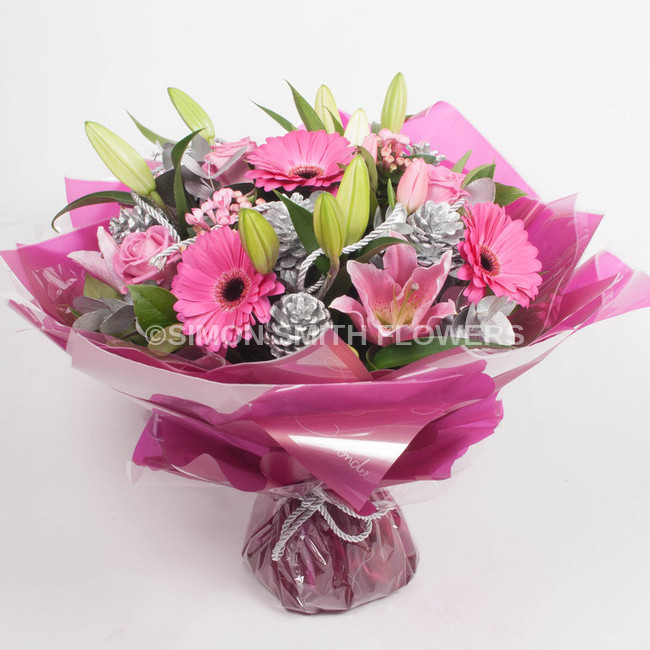 Click to view PINK GERBERA HAND TIED
