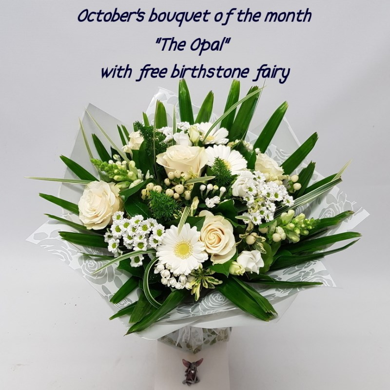 BOUQUET OF THE MONTH with free birthstone fairy