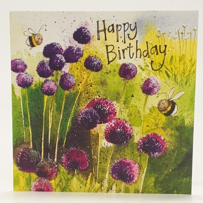 HAPPY BIRTHDAY-purple flower