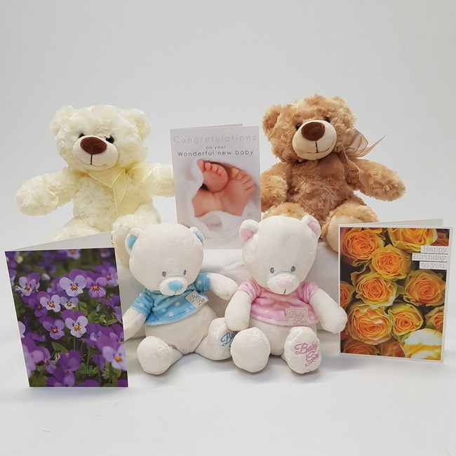 GREETINGS CARDS AND TEDDY BEARS
